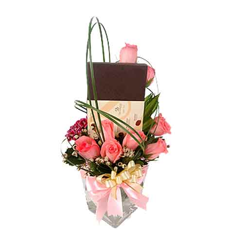 Satisfying Rosy Truffles Gentle Caresses Bouquet